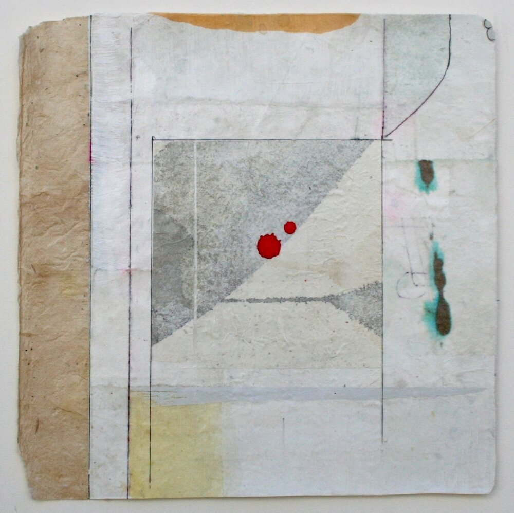 bindu …ode to Hilma af Klint  10 x 10  mixed media on Bhutanese paper  .  .  .