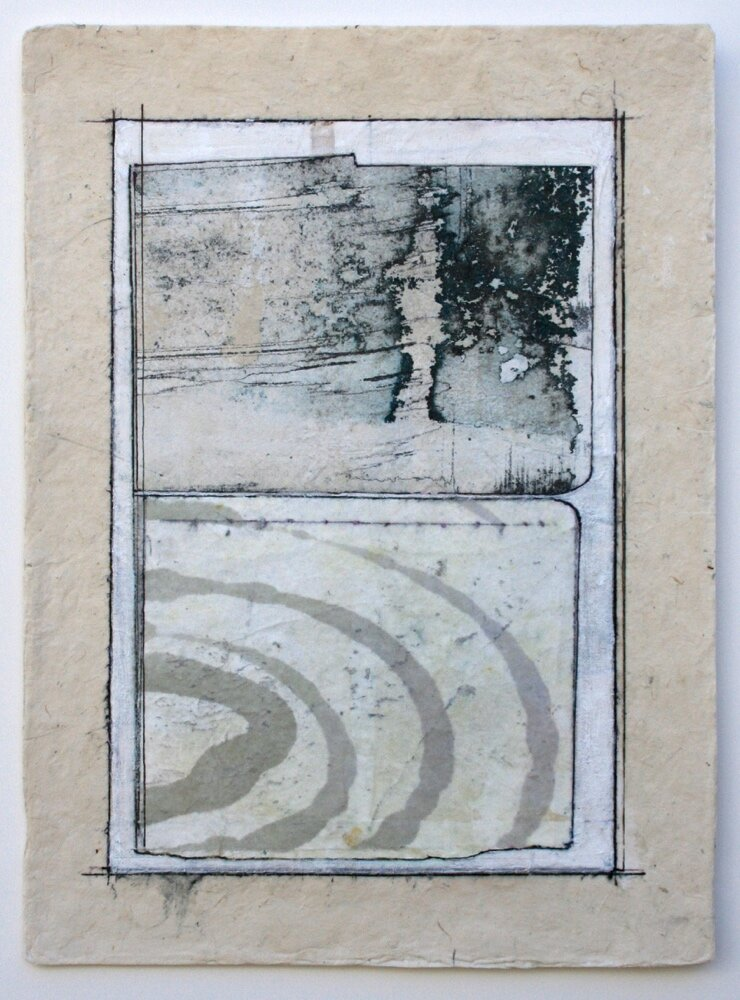ripple  mixed media on paper  12 x 9  sold  .  .