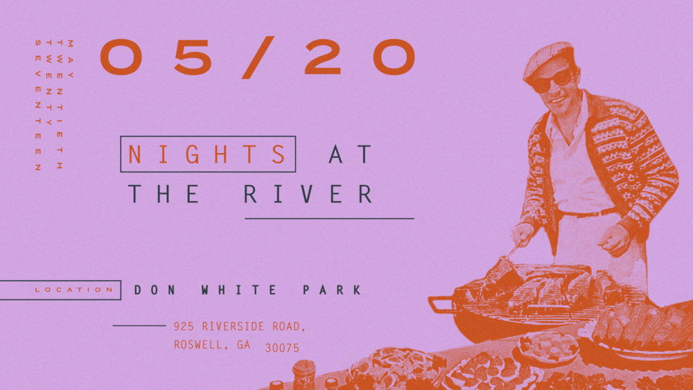 We can't wait to see you and your crew from 4:00-6:00PM on May 20 at the river! Come ready for some food, volleyball, and good hangs.