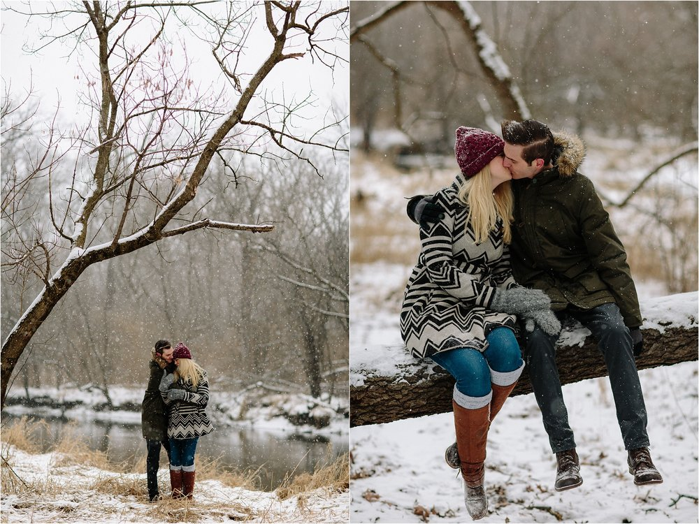Chicago winter engagement photos