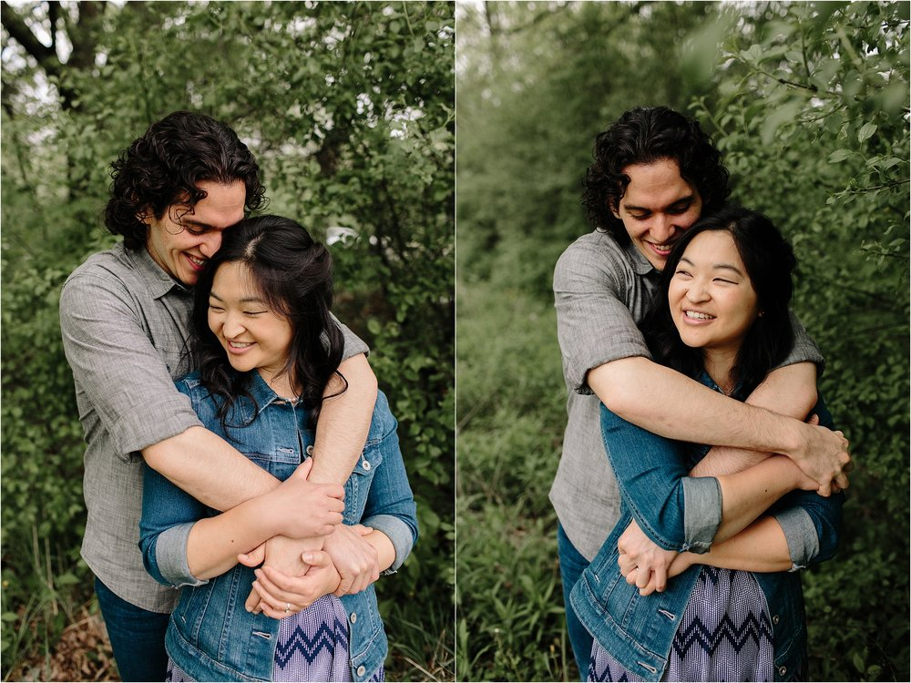 Chicago engagement session, Labagh Woods