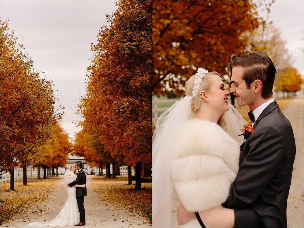Northfork Farm Oswego, IL Fall Wedding