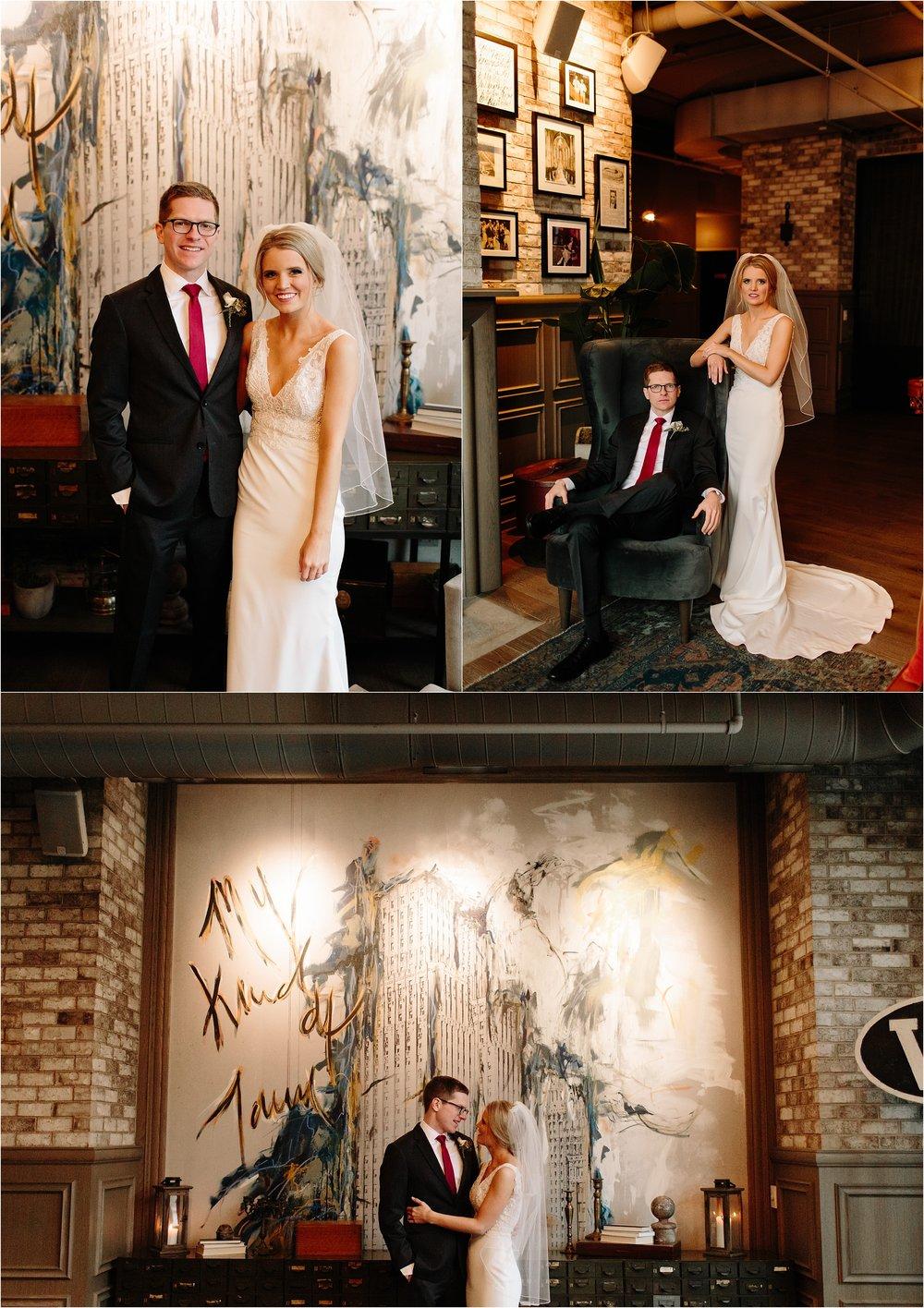 Hotel Zachary Chicago Winter Wedding