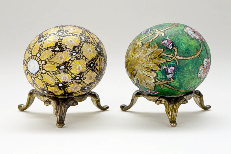 Imperial Coronation Egg and Pansy Egg