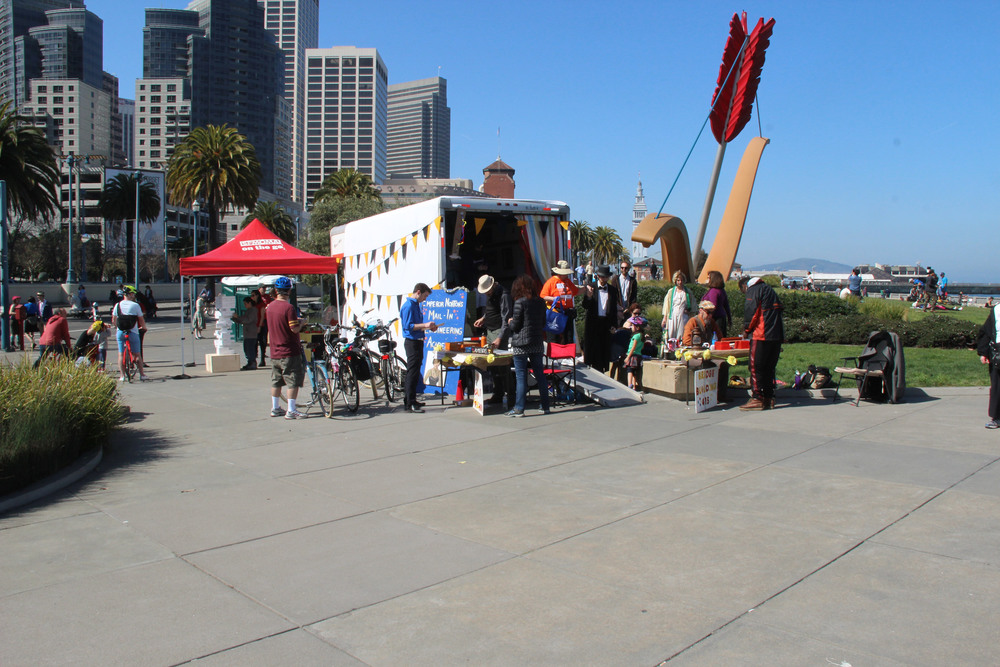 2015  Interactive performance installation presented in collaboration with SFMOMA, San Francisco Sunday Streets, and Everyhere Logistics.  Companion piece to the Cult of Emperor Norton by Kasey Smith and Christopher Ory, 2013.
