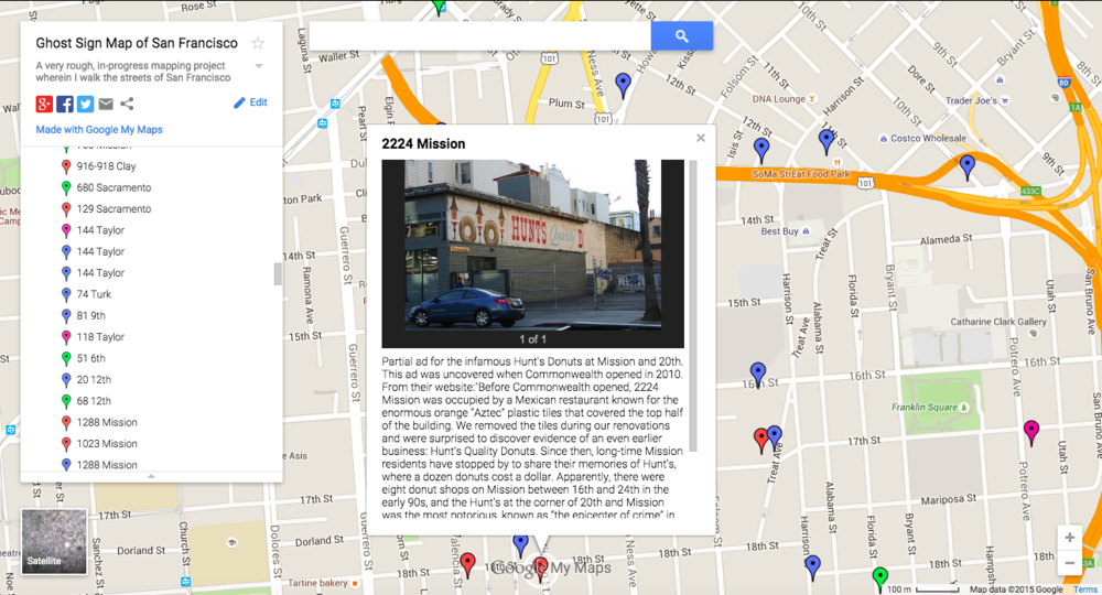 San Francisco Ghost Sign Map