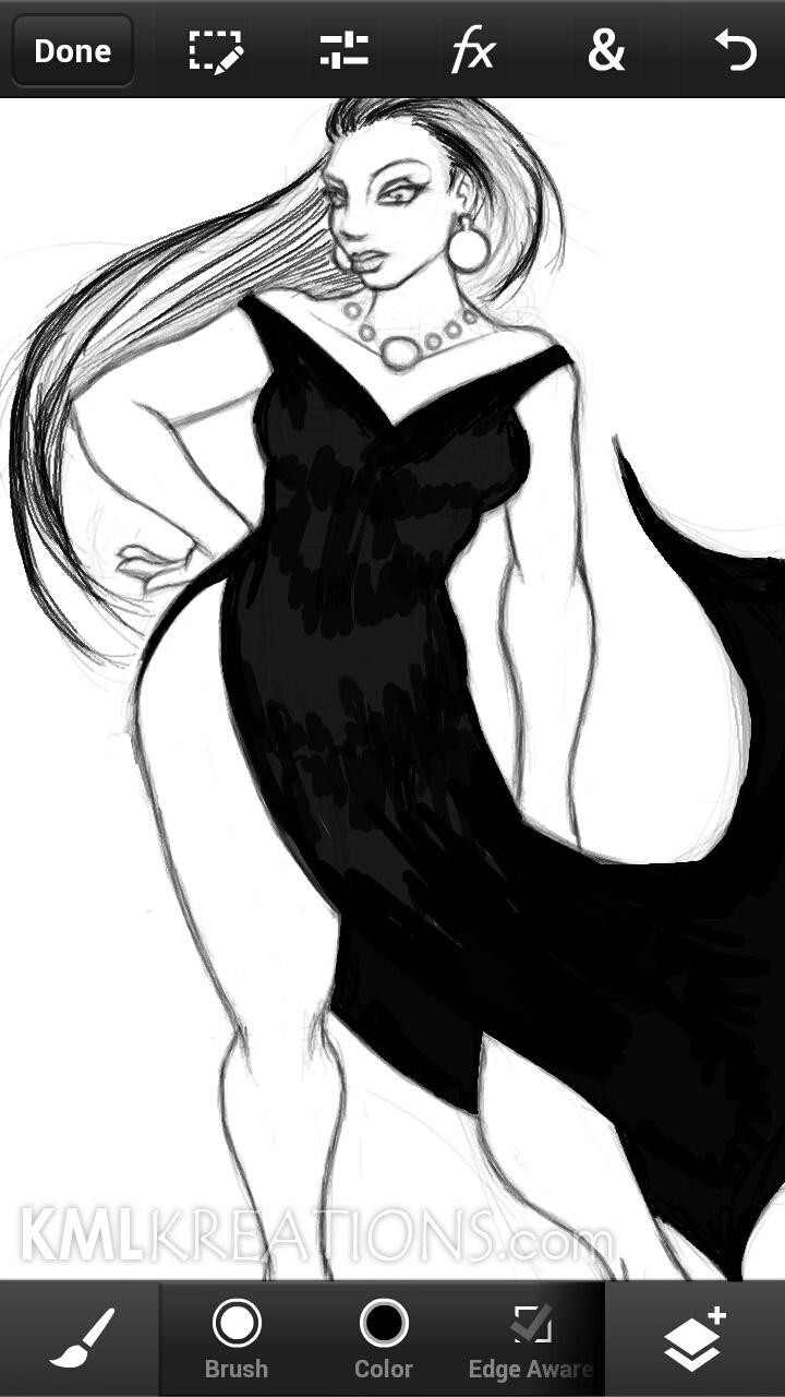 Curves in a Black Dress and Heels_WIP04.jpg