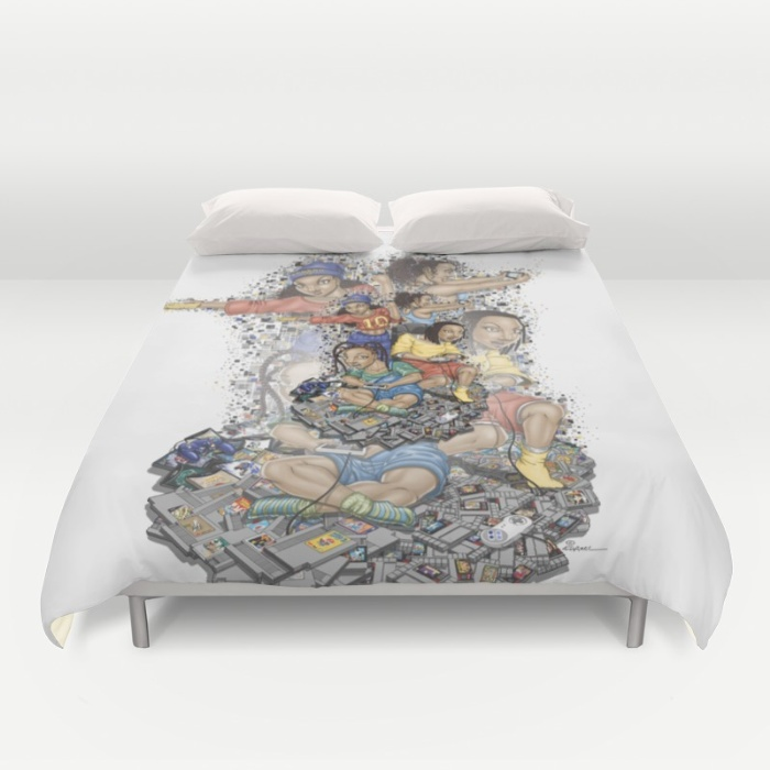 """Growing Up Nintendo"" Duvet Cover"