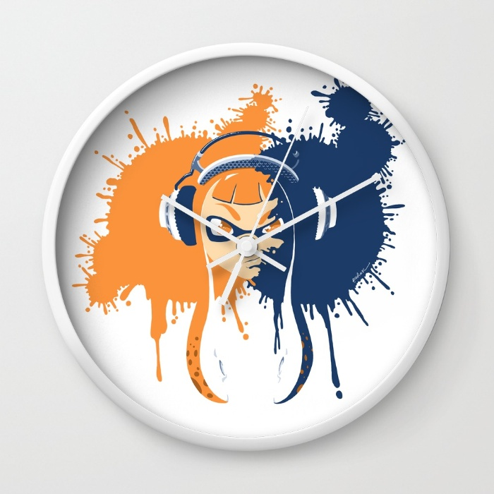 """Squid Girl Splash Jam"" Wall Clock"