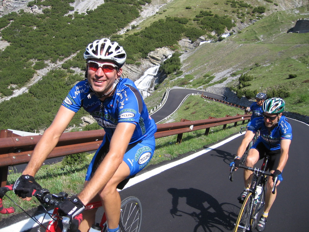 cycling on the stelvio