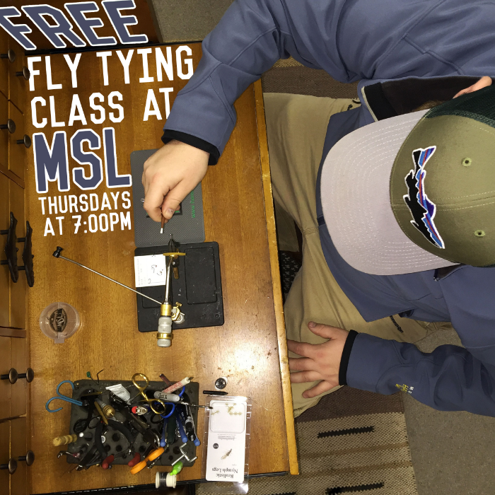 Free Fly Tying Classes Thursday's at 7:00pm