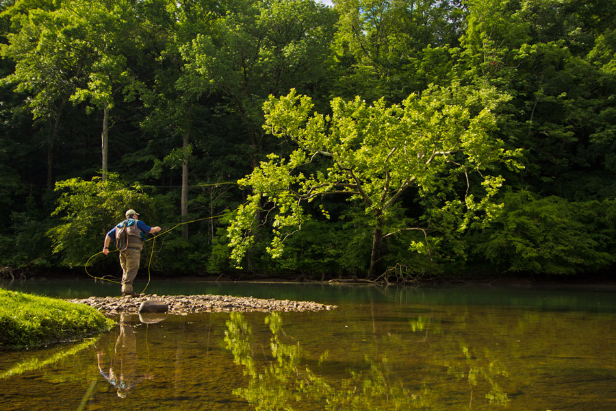 MSL Fly Shop Manager Jimmy Cheers searching for big browns on the SoHo.