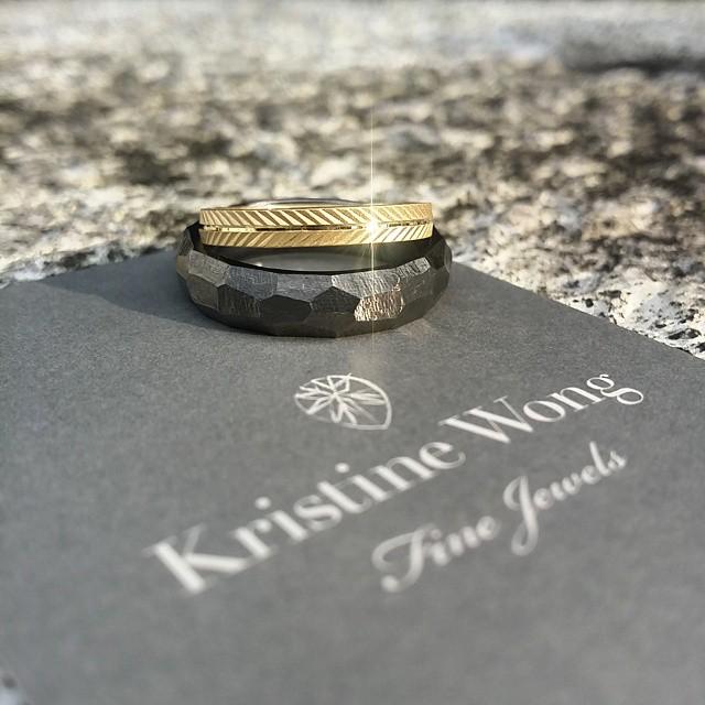 KWFJ Wedding Weekend happening right now! #kristinewongfinejewels #kwfj #customised #wedding #bands #madeinitaly #sgweddings #nofilter