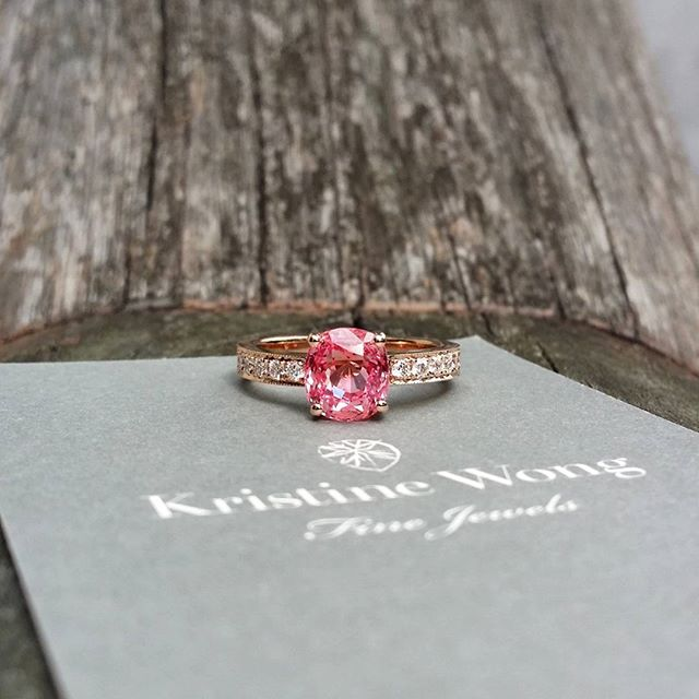 Nothing quite like a precious padparadscha proposal ring to add to the family jewel box #kristinewongfinejewels #kwfj #unheated #sapphire #engagement #keepsake #heirloom #collection #nofilter