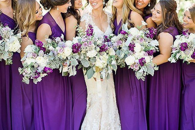 Loved seeing sweet Laura's wedding featured on @glamandgrace today! 💜 Planning: @treasuredheartevents  Photos: @ardenpruchaphotography