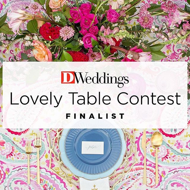It was so much fun working with @collinscoordination on their table for @dweddings Lovely Table Contest. I am in love with this festive pink table! Scroll for more details and go vote for your favorite table at the #linkinbio