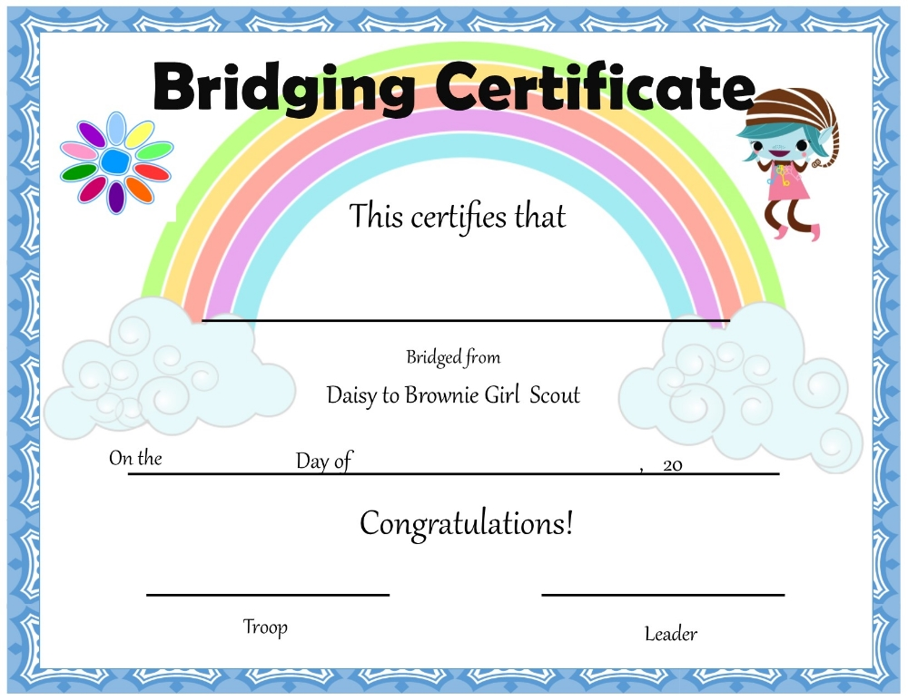 It is a photo of Punchy Girl Scouts Certificates