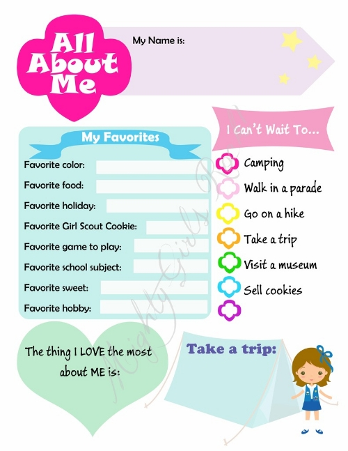 All About Me Daisy Printable Sheet Mighty Girls Rock