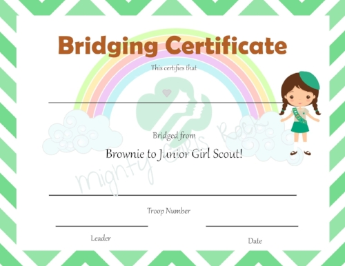 photo relating to Girl Scout Certificates Printable Free identify Brownie Initial 12 months and Bridging Certificates! - Mighty Females
