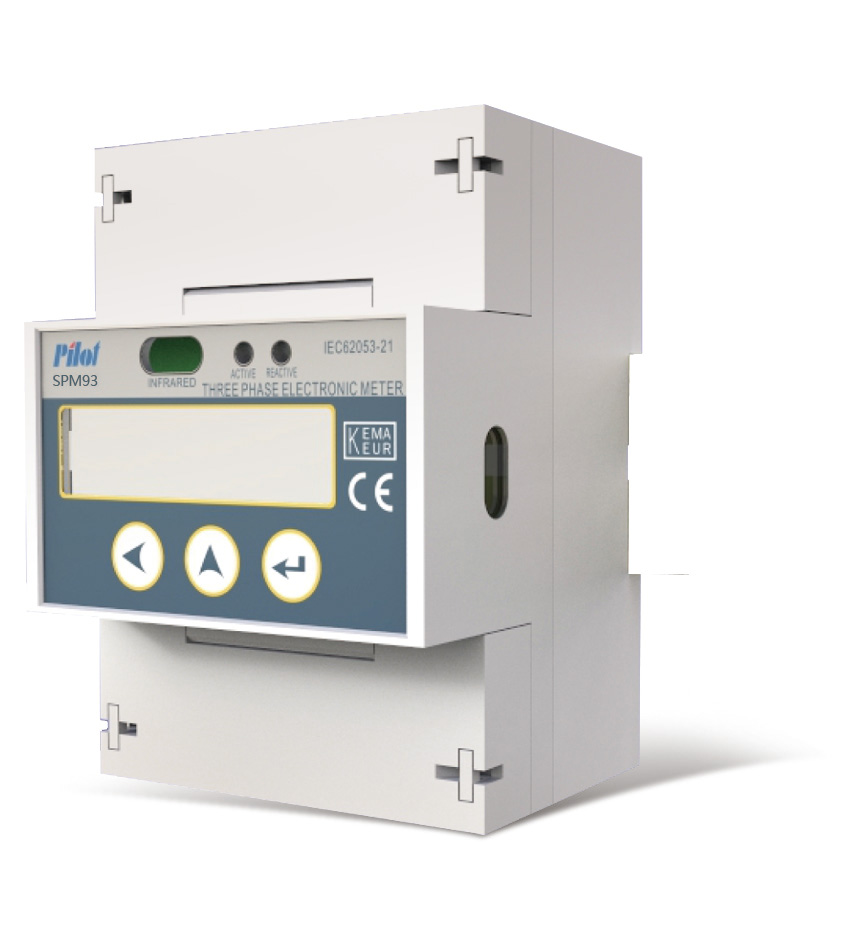 SPM93 LCD Three Phase Din Rail Energy Meter