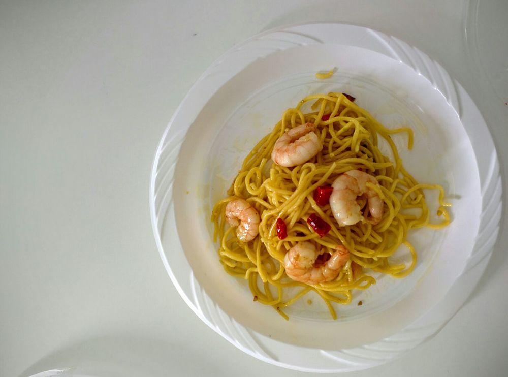 Masterchef Sai's Prawn Aglio Olio!! It was so yummy!