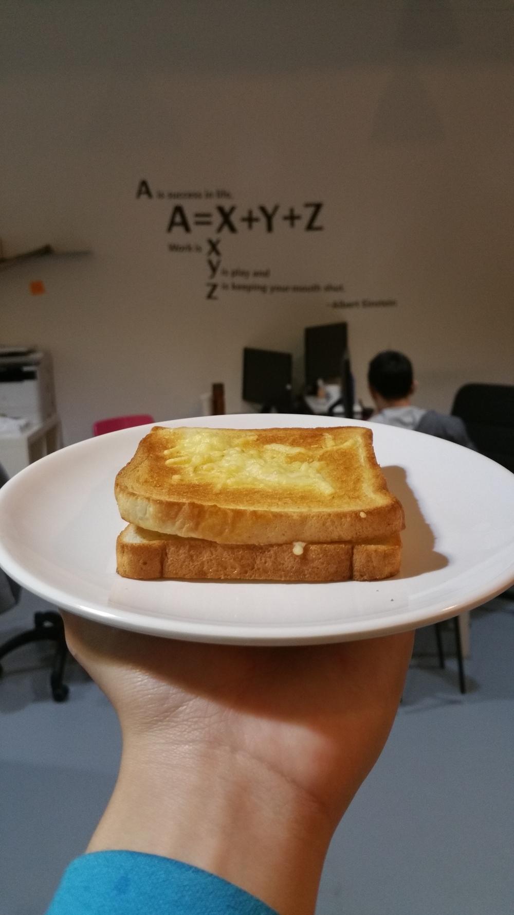 Tada! Yummy Grilled cheese sandwich!
