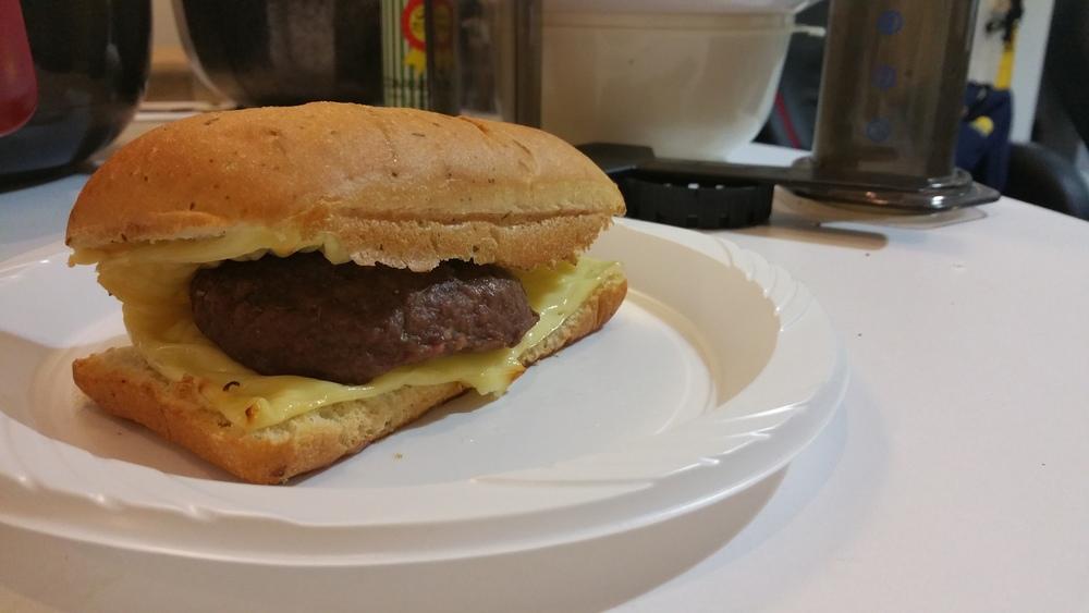 Air fried Beef Hamburger!