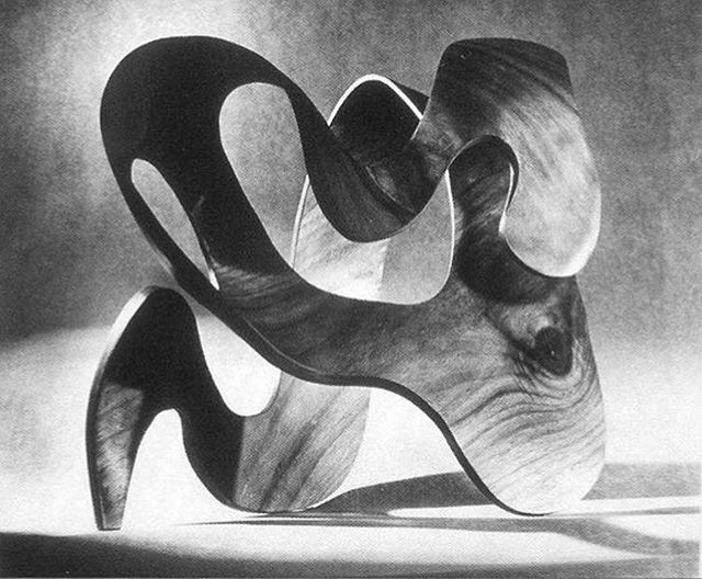 Plywood sculpture by Ray Eames, photographed by Herbert Matter.