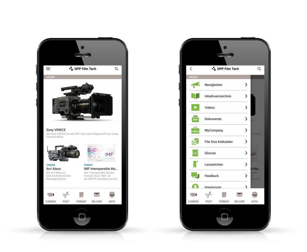 dpp film tech app - SUCHEN. FINDEN. PRODUZIEREN.dpp film tech app – der Tech-Guide für Medienprofis: Verständlich und immer auf dem neuesten Stand. Begriffe, Kameras, Formate, IT, Senderichtlinien von über 25 TV-Sendern und Plattformen weltweit. In deutscher und englischer Sprache geben wir die dpp film tech app gemeinsam mit der Digital Production Partnership (dpp) in London heraus.Erhältlich im iOS und Android Store.Mehr unter filmtechapp.com