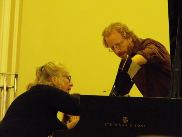 Jeffery Meyer (conductor) and the pianist Ursula Oppens.