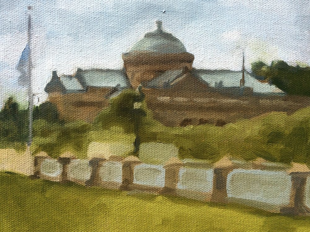 First plein air painting of the summer! Wanted to take advantage of being so close to the Museum of Science and Industry.