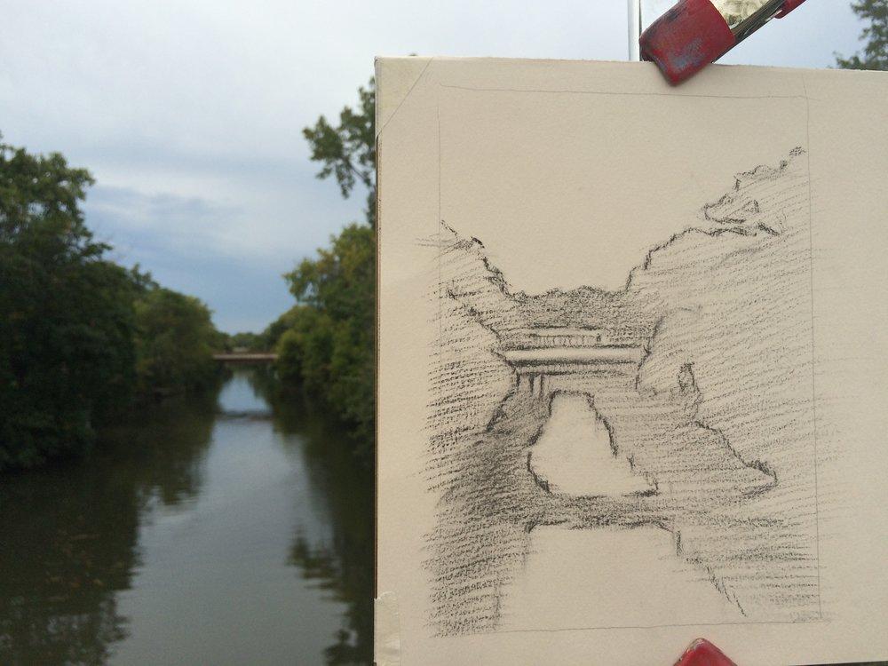 Day 19. A bridge near the studio.