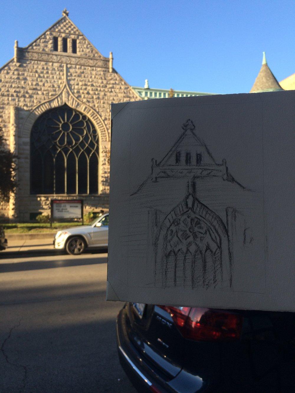 Day 20. A church window.
