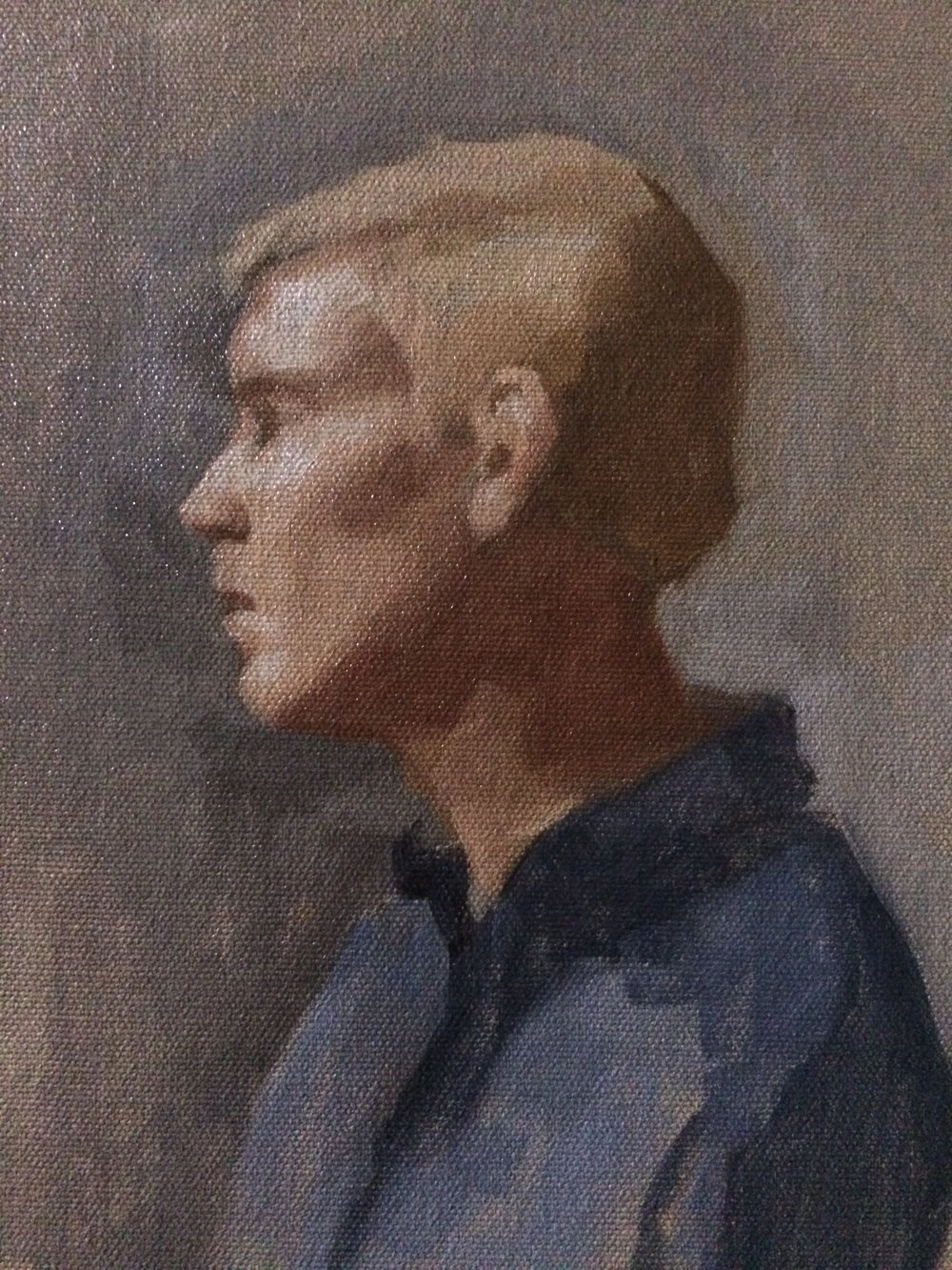 Head study from The Palette and Chisel