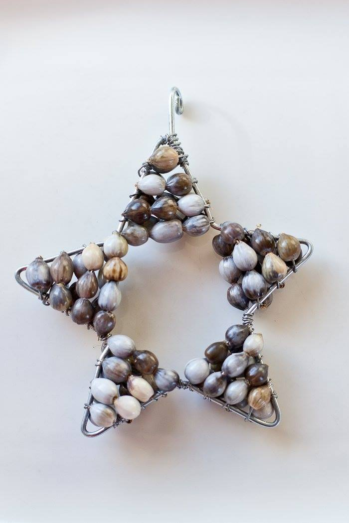 XM09 - Beaded Star Home Decor Handmade