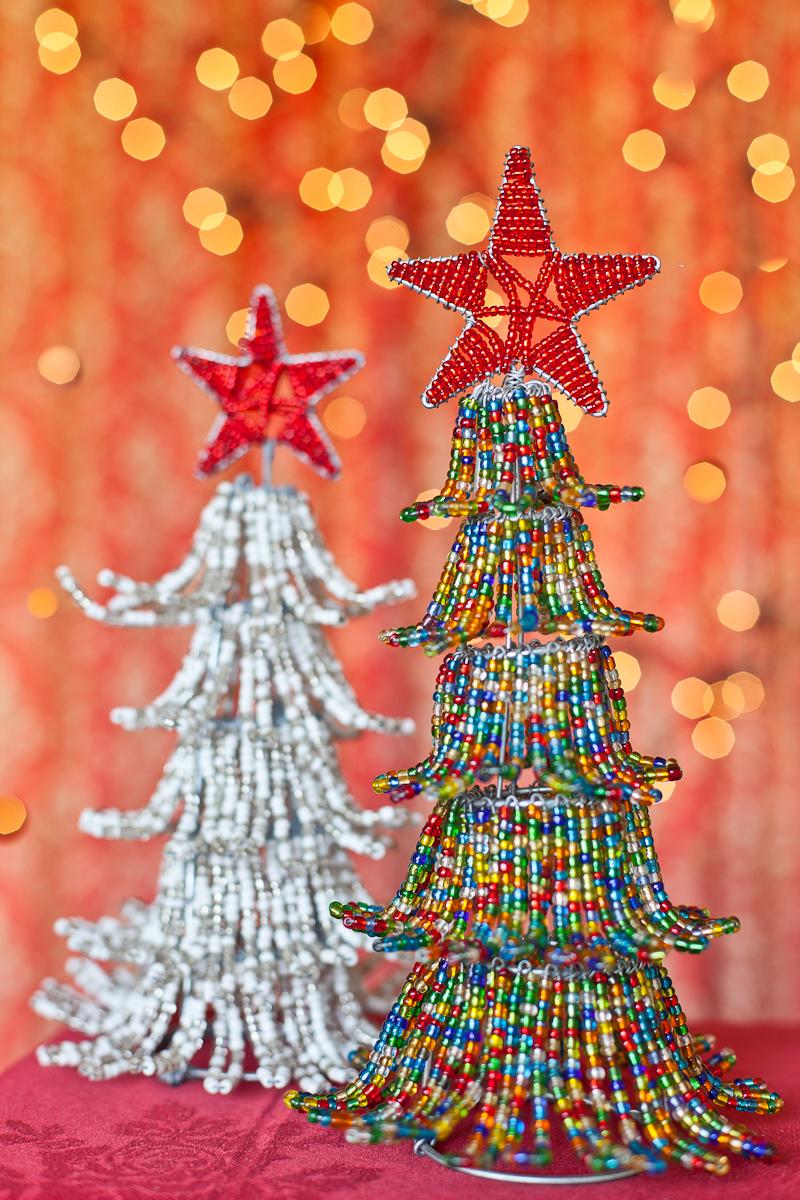 XM36 Christmas standing Tree [white] XM16 [multi coloured]
