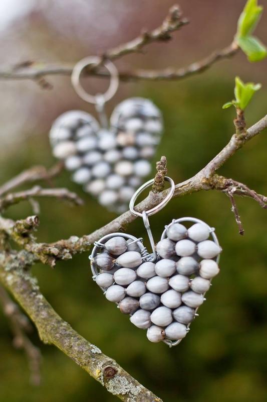 XM10 - Zulu Pearl Heart Keyrings