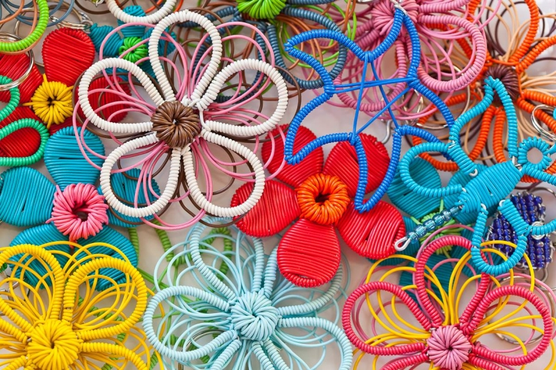 Telephone Wire Flower Art Brooches