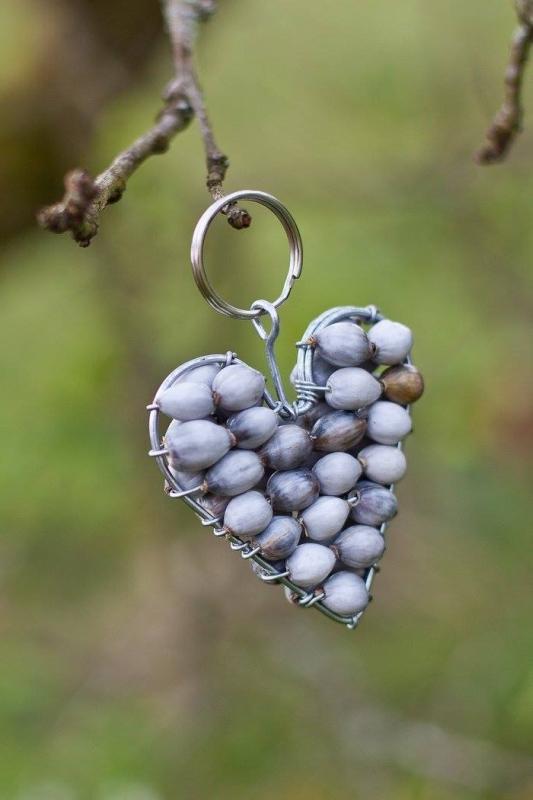 XM10  Zulu Pearl Heart Keyring