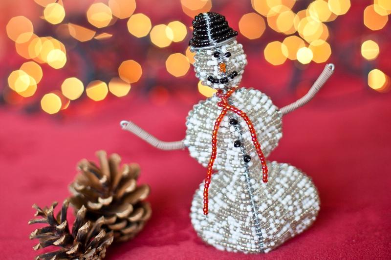 Snowman Christmas Decoration Handmade