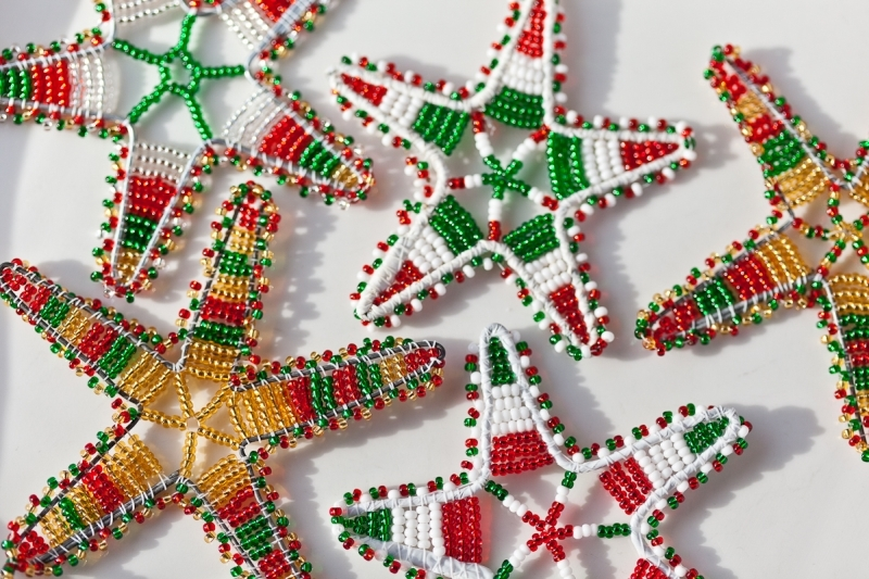 XM11 + XM12 - Large beaded christmas stars