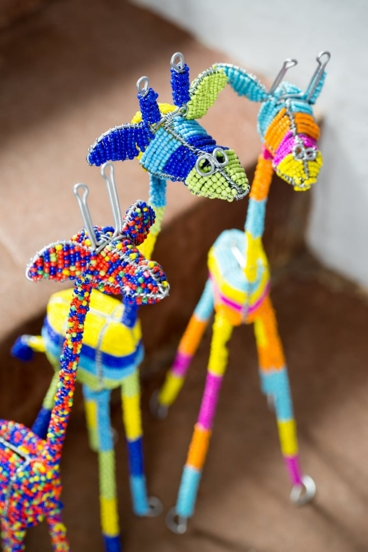 AN08/AN06/AN07 - Beaded Giraffes