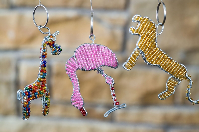 Animal Beaded Keyrings