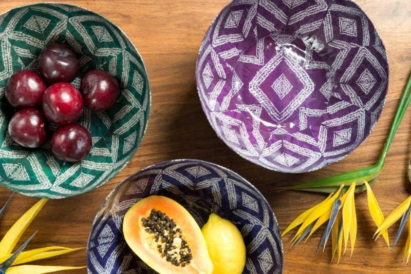 HD04 - Indigo Colour Range Paper Art bowls [medium]