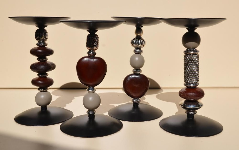 Love Bean and Pewter Candlesticks available from our online store