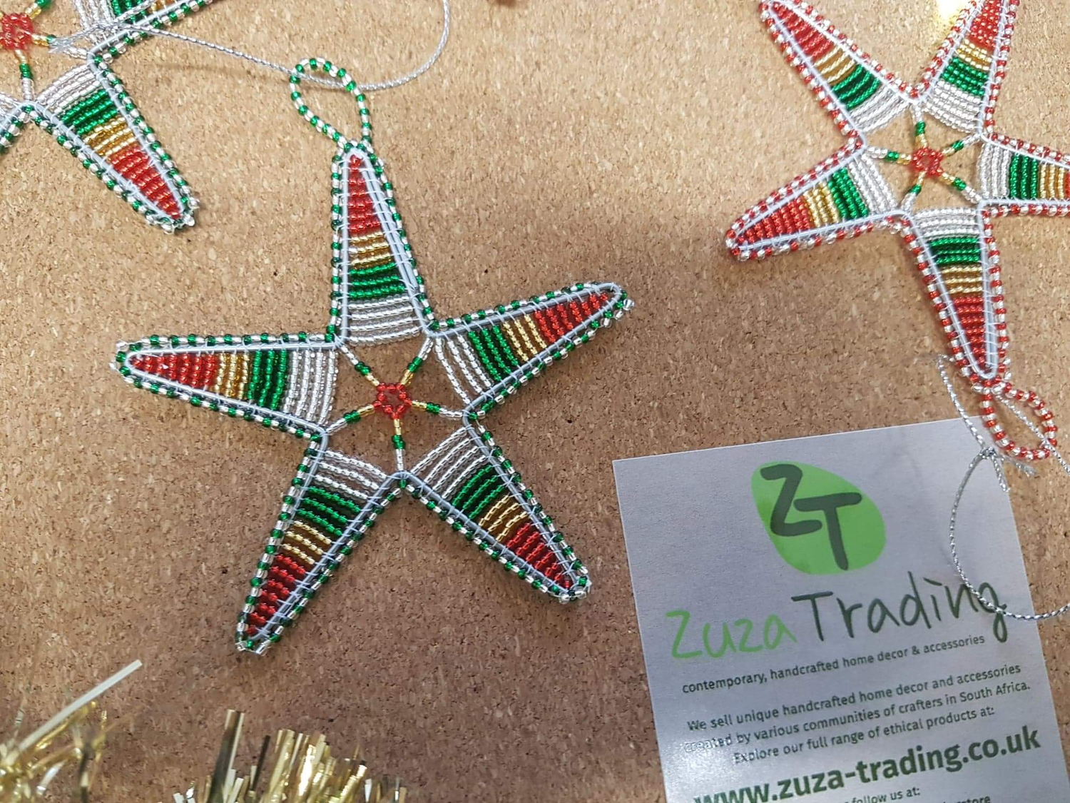 Just Arrived Christmas Stars In South Africa S National Colours X 4