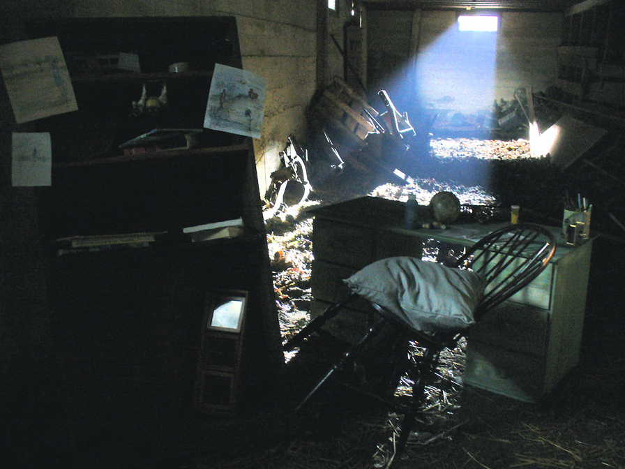 Set design for Visible, a film by Max Pham.