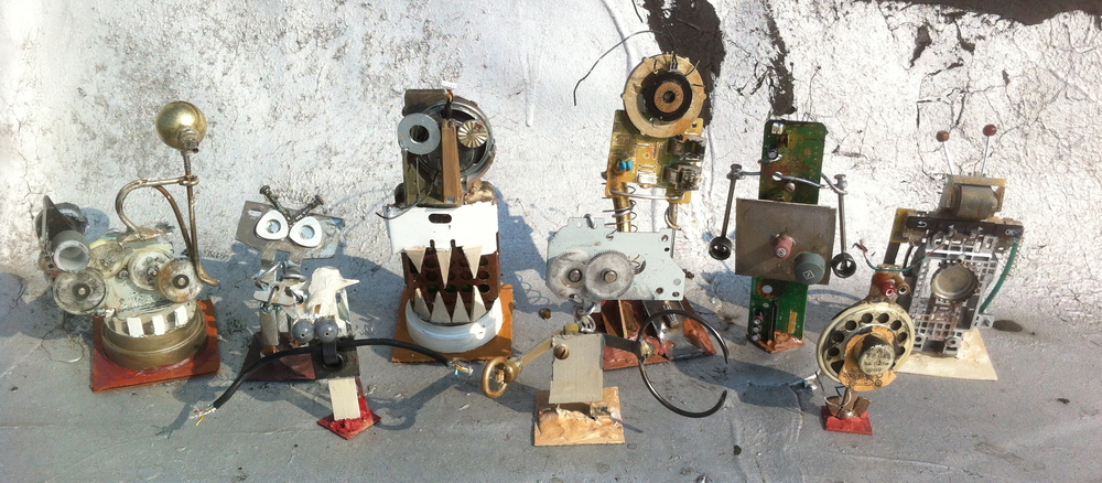 Group of Robot Monsters