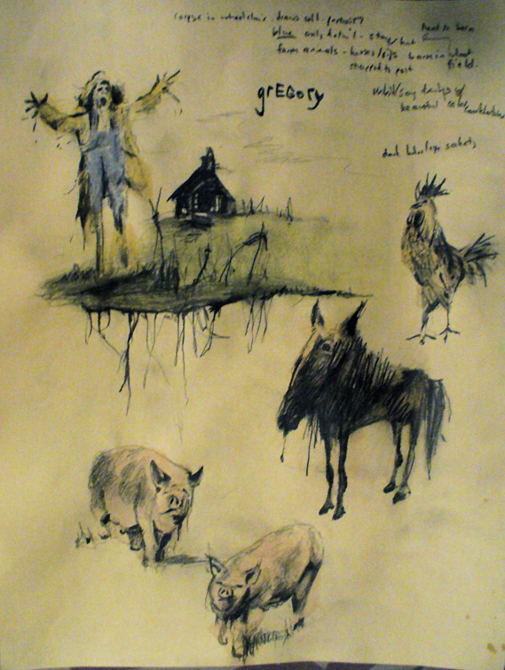Concept illustrations for a film, based on Stephen Gammell drawings.