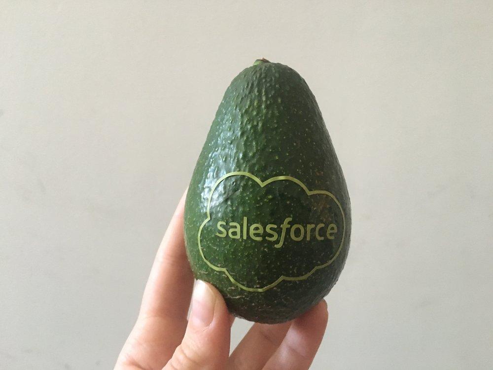 Avocados with logos (via Custom Avocados)